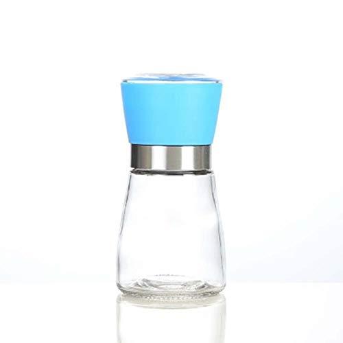 Gouen Kitchen Multifunctionele handmatige zoutpepermolen Molen Kruiden Bidonhouder, blauw