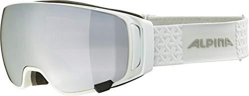 ALPINA Double Jack mag Q Gafas de esquí, Unisex-Adult, White, One Size