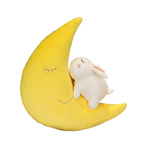 Yuhualiyi123 Moon White Rabbit Pillows Cute Creative Plush Toy Decoration Soft Toy Fashion Stuffed Toys Gift Cosy Personality Cushion (Size : 55cm)