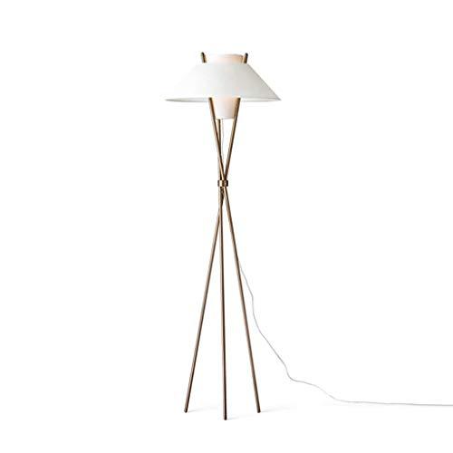 WYFX Lámpara de pie Lámpara de pie Creativa Vertical Personalizada Lámpara estándar enchufable de Metal de Tela Trapezoidal de apilamiento Cruzado de Tres Polos para Sala de e