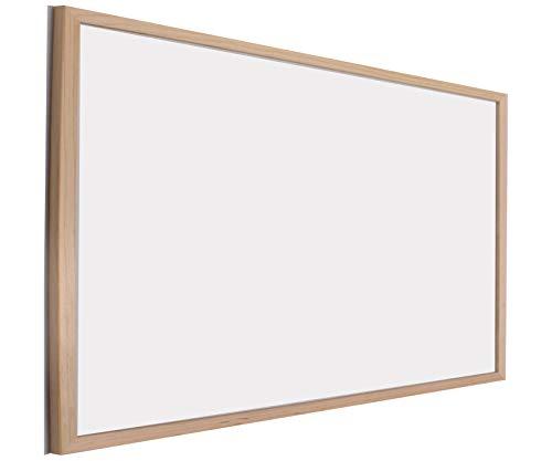 Chely Intermarket Pizarra blanca 40x60 cm esmaltada con marco de madera, no magnetica. Tablero ideal para la pared oficinas, ligero y portatil.(551-40x60-0,85)