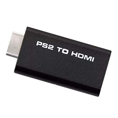 Goldoars PS2 a HDMI convertidor Adaptador de Video y Audio,con Conector de Audio para Auriculares de 3,5 mm, Soporta Todos los Modos de Pantalla de PS2 ,para Playstation 2 HDTV HDMI Monitor