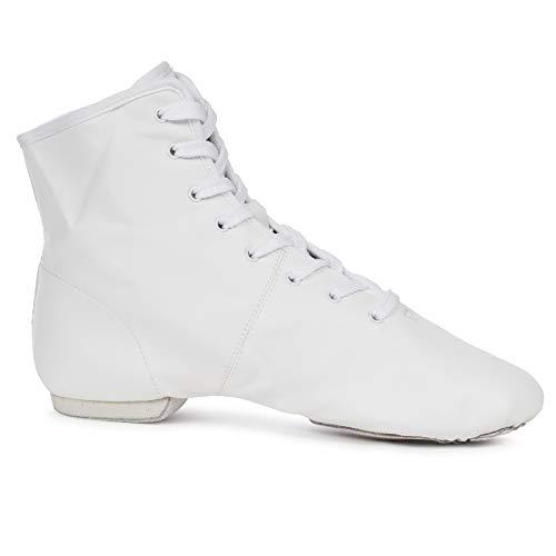 Kostov Sportswear Gardetanzstiefel Nova Dance (Geteilte Ledersohle, geeignet für Anfänger, Showtanztauglich) Weiß, Gr.37