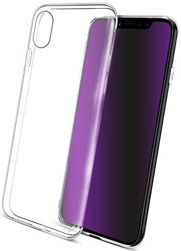 COVERbasics Cover compatibile con iPhone X (AIRGEL 0.3mm) Custodia Trasparente in Silicone Gel Gomma TPU Sottile con Bordo Protezione Fotocamera , Anti Ingiallimento ed Anti Graffio