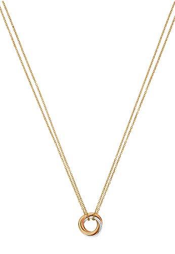 CHRIST Damen-Kette 375er Weißgold, 375er Gelbgold, 375er Rotgold One Size 87003311