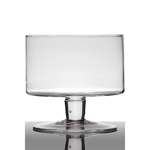 Hakbijl Glasschale auf Fuß Cylinder H. 18cm D. 19cm rund transparent
