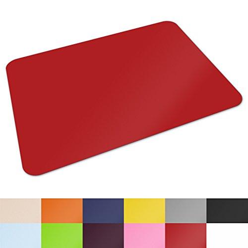Schreibtischunterlage von Office Marshal®   hochwertige Tischauflage für Büro und Schule   abwischbar   rutschfest   65x50 cm   rot