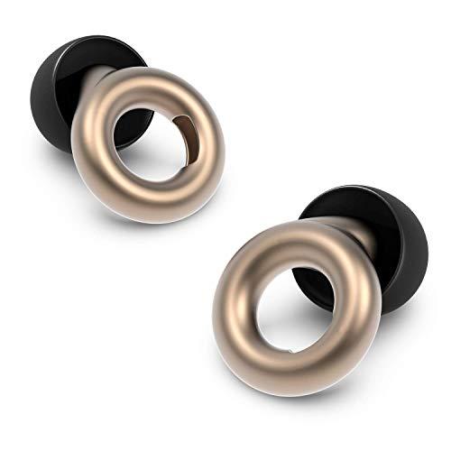 Loop Earplugs - Ohrstöpsel zur Lärm Reduktion (20 dB) - In-ear Gehörschutz für Konzerte, Partys, Büro & Schlaf - Inkl. Gehörschutzstöpseln in 3 Größen - Gold