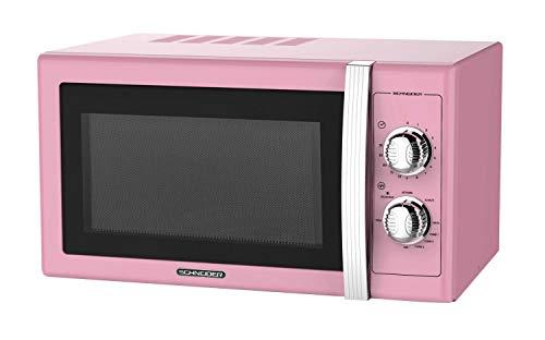 Microonde da 25 l, 900 W, griglia 1000 W, stile vintage, rosa