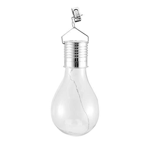 Ba30DEllylelly Bombilla de luz solar a prueba de agua giratoria para jardín al aire libre que acampa que cuelga 5 bombilla de lámpara solar de iluminación LED