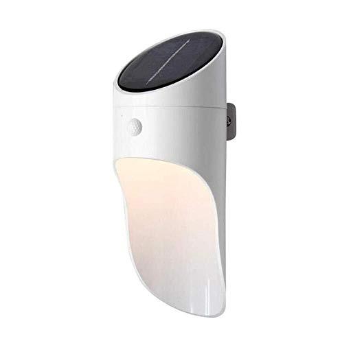 XFSE Luz de pared Lámpara de pared creativa Solar luz LED de pared exterior Luz solar Personalidad impermeable con la inducción del cuerpo humano, Blanco, A