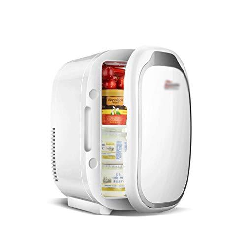 BYZHP Mini Nevera Mini Refrigerador Mini Frigorífico 6L Refrigerador Compacto portátil Pequeño refrigerador más Calentador para Bebidas de Alimentos Skincare Use en casa Office Dorm Car