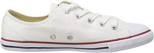 Converse Damen CT AS Dainty OX White Fitnessschuhe, Weiß Blanc Rouge, 42 EU