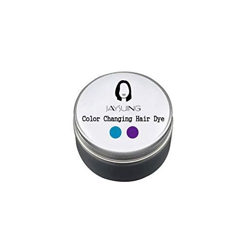 Serria® 100g temperatur veränderndes Farbwechsel Haarfärbemittel temporäre Farbstoff ändert Haar Farbe 18 ° C sofort ändert p-Phenylendiamin Wasserstoffperoxid Haarfärbecreme (B-Violett-Lavendel)