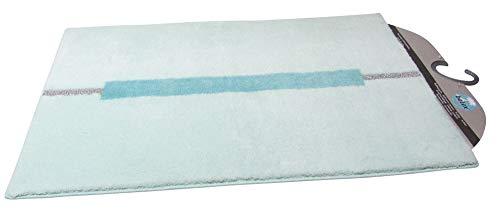 Clarissa Badteppich Lynn Ägais Mint Silber ca. 60x100 cm Badematte Badezimmerteppich Badgarnitur Badvorleger Duschmatte