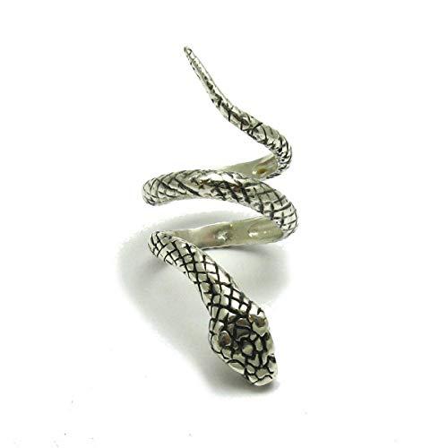 Lange sterling silber ring schlange 925 Empress jewellery Größe 47-69