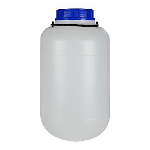 Bote 10 litros boca ancha con tapa y asa. Bidón de plástico. 1 Unidad.
