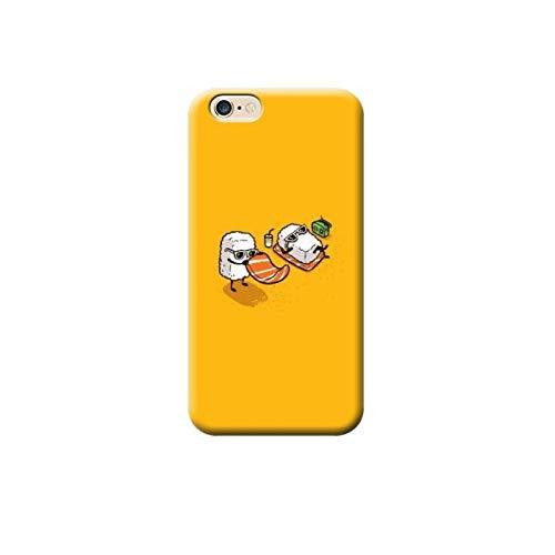 TheBigStock Cover Custodia per Tutti Modelli Apple iPhone x 8 7 6 6s 5 5s Plus 4 4s 5c TPU - AAB 13 Sushi in Spiaggia, iPhone 6