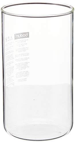 Bodum Spare Beaker/Glass, Ersatzglas ohne Ausguss für Kaffeebereiter/Kaffeekocher, 8 Tassen, 1 l, transparent, 01-10945-10