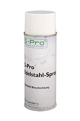 S-Pro Edelstahl-Spray Korrosionsschutz und Lackspray, Oberflächenbeschichtung Spray, Versiegelung, 1 x 400ml Dose im Set