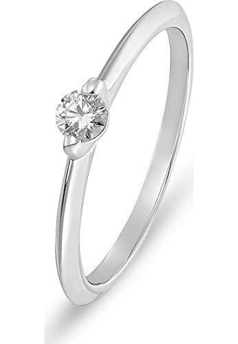 CHRIST Diamonds Damen-Damenring 585er Weißgold 1 Diamant 60 Weißgold 32004977