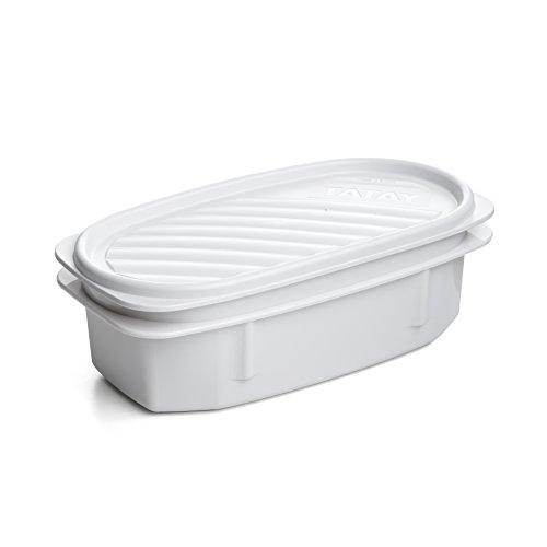 TATAY 1167711 - Top Flex - Contenedor de alimentos hermético con cierre a presión y tapa flexible. Recambio para bolsa porta alimentos TATAY Urban Food Casual. 0,5 litros, Blanco, 18.4 x 9.4 x 6.1 cm