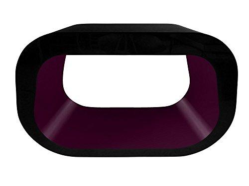 Zespoke Design La Place Ovale Meuble Table Basse TV Squoval en Noir des Couleurs Différentes