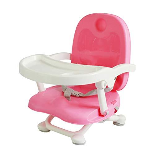 TASE verstellbar, faltbar, Baby-Essstuhl, 4 höhenverstellbar, Baby Hochstuhl Verstellbarer Sitz - abnehmbare Schale, wischen sauber, Bequeme Babymatte, blau, rosa,Pink