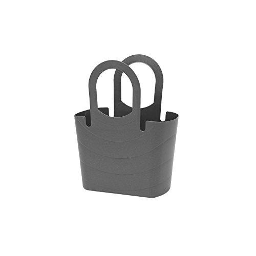 Mehrzweck Korb Picknickkorb Strandtasche Flexibel Einkaufskorb Tragetasche aus Kunststoff SIZE S graphit