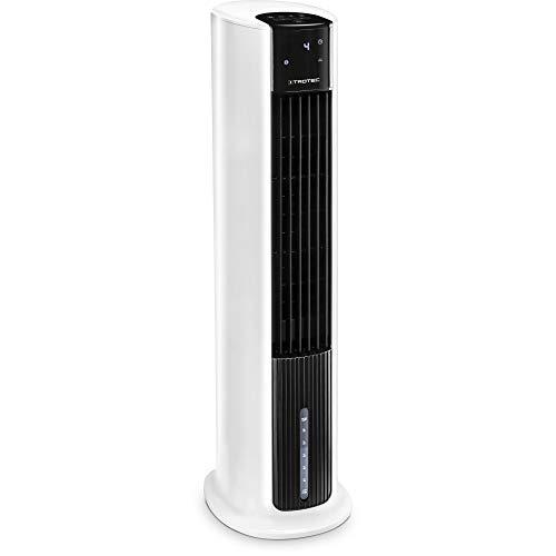 TROTEC Aircooler PAE 30, 3 en 1: Refrigeración por Aire, Ventilación y Humidificación, Temporizador, Modo Nocturno, Portátil, Blanco, Oficina, Hogar
