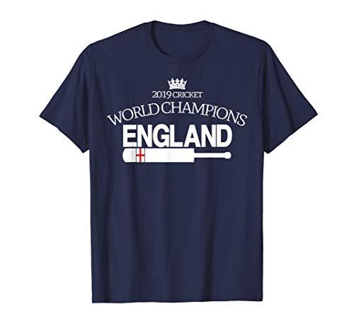 ENGLAND CRICKET (2019 WORLD CHAMPIONS with bat) T-Shirt
