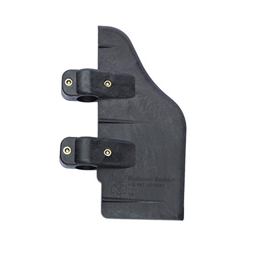 Bullnose Rudder Clamp On Rudder for 24-55 Thrust Trolling Motors: Pontoons, Kayaks, or Canoes