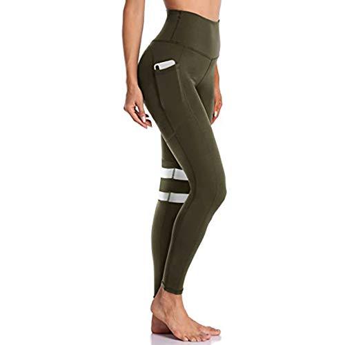 Pantalones Deportivos de Cintura Alta para Mujer, Pantalones de Leggings, Pantalones de Yoga EláSticos, Utilizados para Correr, Entrenar, Estirar, Yoga, Pantalones de Primavera y Verano