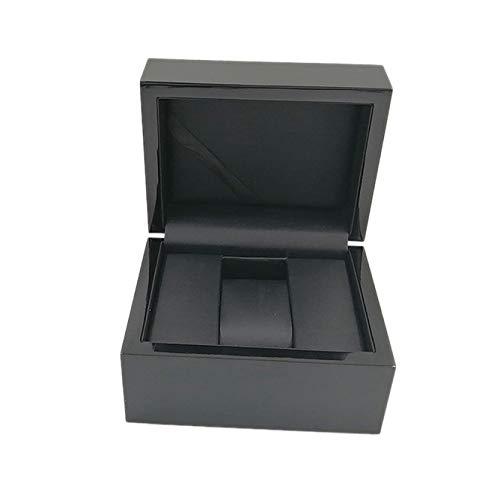XINGBAO Mire La Caja De Almacenamiento, La Caja De Madera del Reloj, El Soporte De Exhibición del Reloj De La Joyería,Black