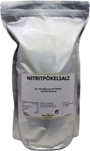 Royal Spice Nitritpökelsalz - Pökelsalz zur Herstellung von Fleisch- und Wurstwaren im wiederverschließbaren Zip-Beutel - 2kg