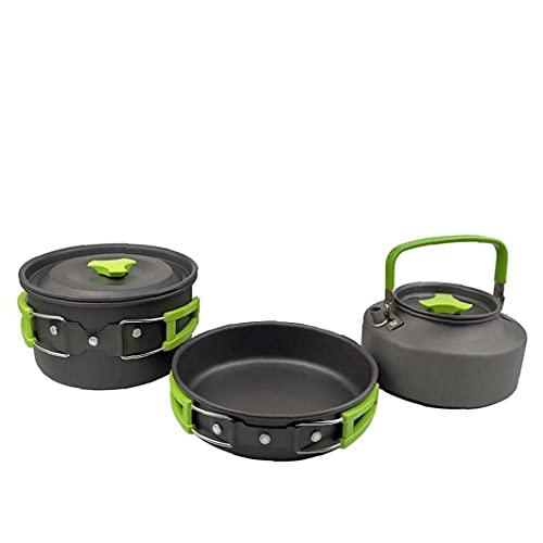 Liadance Acampa cocinando Conjunto de Picnic sartenes Senderismo Bote Plegable Utensilios de Cocina Pesca cocinar al Aire Libre Compacto Duradero