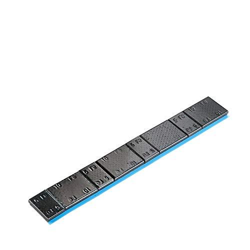 100x Poids autocollants noirs jante en aluminium type 39860 | Poids d'équilibrage autocollants noirs | Poids d'équilibrage autocollants