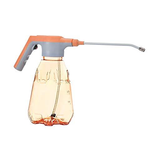 Fenteer Botella de pulverización eléctrica Transparente rociador desinfectante de esterilización automática 2L, con un botón de Funcionamiento - Naranja