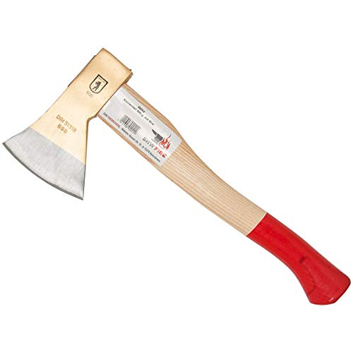 SHW-FIRE 59004 Küchenbeil Beil Axt Outdoor Einhand 600g mit Stiel Holzstiel Esche 40 cm leicht