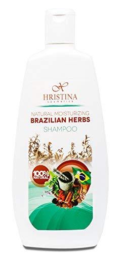 100% natürliches brasilianisches Kräuter Shampoo mit Arganöl, Orangenöl, Zitronengrasöl und Rosmarin. Feuchtigkeitsspendende, anregende und verdickende Kräuteressenzen. Einzigartige Frische, 400 ml.