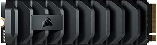 Corsair MP600 PRO XT 1TB Gen4 PCIe x4 NVMe M.2 SSD (Velocidades de Lectura Secuencial de hasta 7.100 MB/s y de Escritura de 5.800 MB/s, TLC NAND de Alta Densidad, Disipador Térmico de Aluminio) Negro