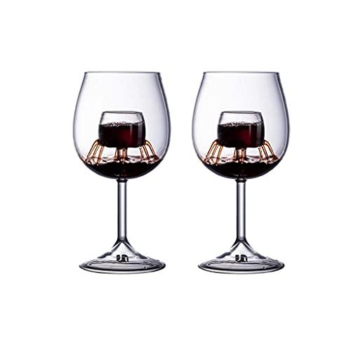 Copas de Vino Conjunto de Copa de Vino Tinto Claro Crystal Coblets Gran Regalo para la Fiesta de Navidad Fiesta