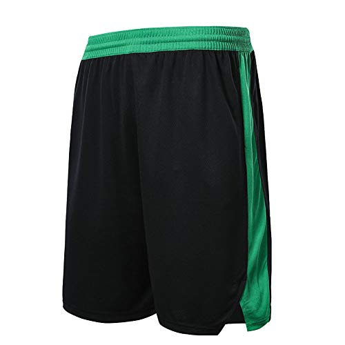 NBA Boston Celtics Shorts Basketballspiel Schnelltrocknend Atmungsaktiv Outdoor Weinlese-Brett,Black,4XI/180-185cm