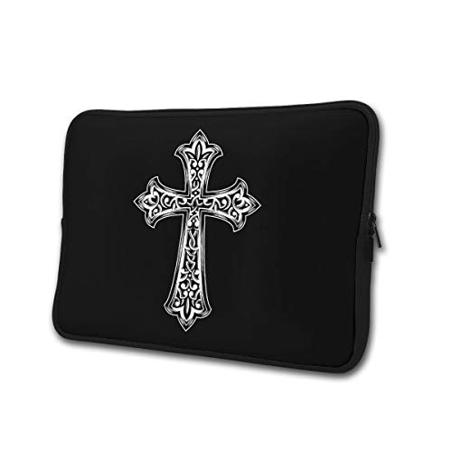 SWEET-YZ Laptop Sleeve Case Christian Jesus Cross Notebook Computer Cover Bag Compatible 13-15 Inch Laptop