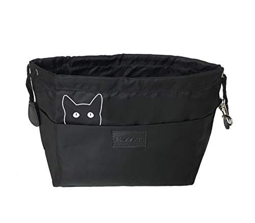 SMATI Bag in Bag Impermeable Organizador de Bolsos de Mujer con 12 bolsillitos de Almacenamiento(Gato)