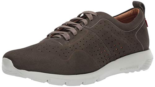 MARC JOSEPH NEW YORK Men's Leather Grand Central Sneaker, Grey Nobuck, 12 D(M) US