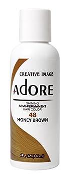 Adore Shining Semi Permanent Hair Colour 48 Honey Brown by Adore