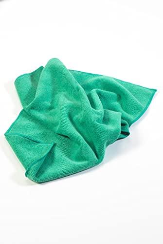 Paragon Microfibre Chiffons d'usage général de qualité supérieure Vert X10