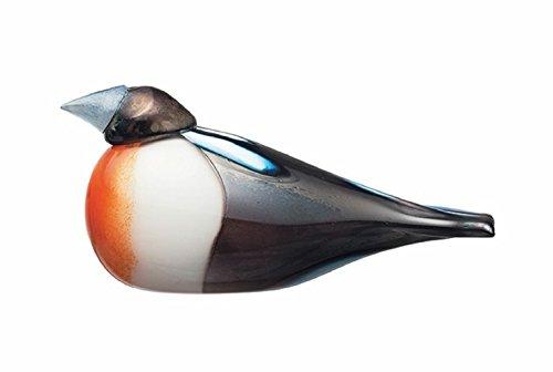 Iittala Birds by Toikka Rose-Breasted Grosbeak Glass Bird Sculpture by Oiva Toikka