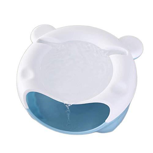 CFSAFAA Automatische Tierfütterung Katze Wasserspender Automatische Strömungsschleife Hund Trinkwasser Artefakt Automatische Fütterung Wasserball.(Farbe: Rosa Nachtlicht) (Color : Blue Night Light)